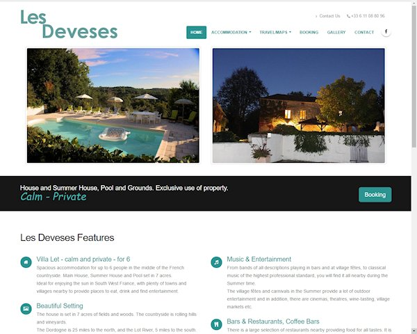 Les Deveses Villa in South West France